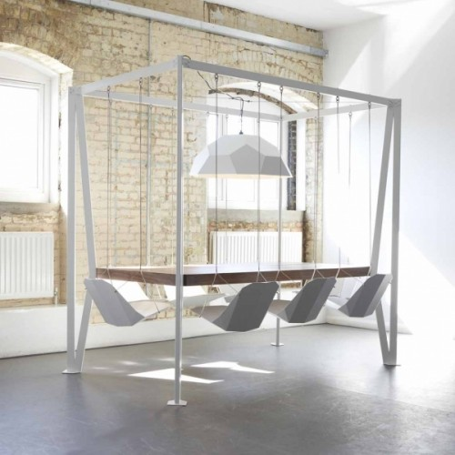 Great design, development & sheet metal folding = The Swing Table